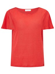 John Lewis Collection Weekend By Angel Sleeve T Shirt Red
