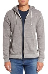 Threads For Thought Men's Trim Fit Heathered Hoodie Heather Grey