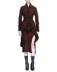 Givenchy Tweed Tail Back Belted Coat