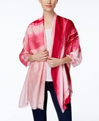 Calvin Klein Convertible Swirl Ombre Wrap And Scarf Hibiscus