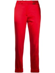 Tom Ford Cropped Cigarette Trousers Red
