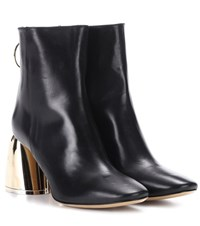 Ellery Leather Ankle Boots Black