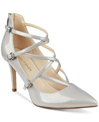 Marc Fisher Danger Strappy Pumps Women's Shoes Grey