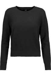 Line Cropped Cashmere Sweater Black