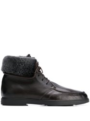 Santoni Shearling Lined Ankle Boots 60