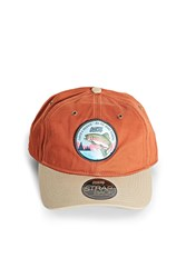 Forever 21 Official Trout Patch Cap Rust
