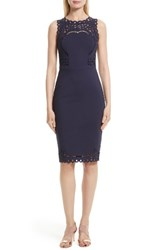 Ted Baker Women's London Verita Eyelet Embroidered Body Con Dress