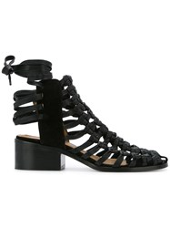 Kitx Cage Sandals Leather Black