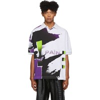 Alexander Wang Grey And Purple Compact Jersey Polo