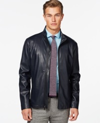 Ryan Seacrest Distinction Ryan Seacrest Faux Leather Lightweight Moto Jacket