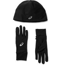 Asics Aic Performance Tretch Jerey Hat And Glove Et Black