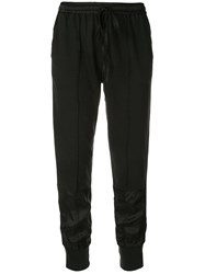 Andrea Ya'aqov Drawstring Tapered Trousers Black