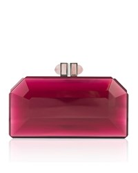 Judith Leiber Faceted Box Clutch Bag Bright Pink