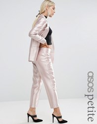 Asos Petite Ultimate Pink Metallic Trouser Pink
