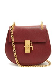 Chloe Drew Small Leather Cross Body Bag Dark Red