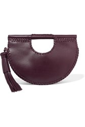 Ulla Johnson Melora Whipstitched Leather Tote Burgundy