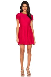 1. State Pleated Flare Dress Pink
