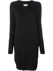 Maison Martin Margiela Mm6 Maison Margiela V Neck Sweater Dress Black