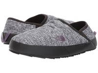 The North Face Thermoball Traction Mule Iv Burnished Houndstooth Print Black Plum Past Season Shoes Gray