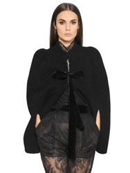 Philosophy Di Lorenzo Serafini Short Wool Felt Cape