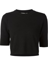Jonathan Simkhai Shortsleeved Sweater Black