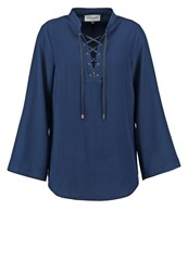 Closet Blouse Navy Dark Blue