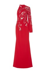Georges Hobeika Single Long Sleeve Embroidered Gown