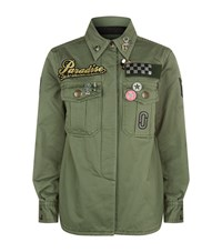 Marc Jacobs Padded Military Shirt Female Green