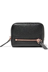 Alexander Wang Woman Pebbled Leather Wallet Black