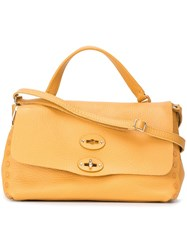 Zanellato Flap Tote Yellow And Orange
