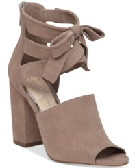 Jessica Simpson Kandiss Block Heel Dress Sandals Women's Shoes Warm Taupe