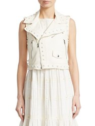 Red Valentino Leather Vest Ivory