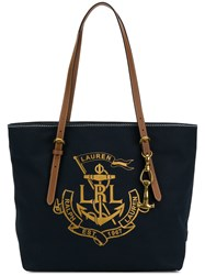 Ralph Lauren Logo Shopper Tote Blue