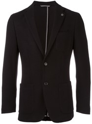Michael Kors Button Front Blazer Black