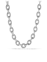 David Yurman Oval Extra Large Link Necklace 18 Silver