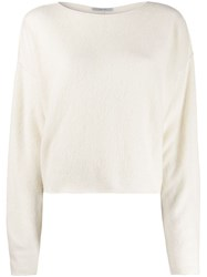 Dusan Relaxed Fit Jumper White