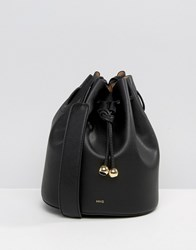 Mango Crossbody Bucket Bag Black