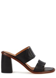 Miista Mirta Black Leather Mules