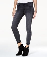 Celebrity Pink Juniors' Raw Hem Skinny Ankle Jeans Darkness