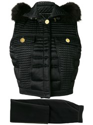 Versace Vintage Quilted Waistcoat And Maxi Skirt