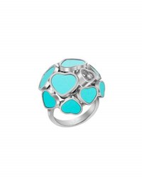Chopard Happy Hearts 18K White Gold Turquoise And Diamond Ring