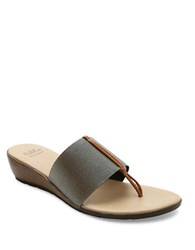 Andre Assous Nima Wedge Sandals Grey