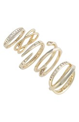 Kendra Scott Women's Robyn 5 Pack Rings White Cz Gold