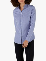 Pure Collection Cotton Shirt Blue Gingham