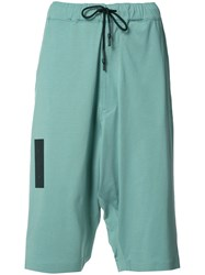 Y 3 Knee Length Shorts Green