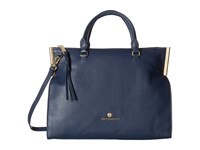 Vince Camuto Tina Satchel Dress Blue Satchel Handbags Navy