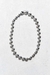 Urban Outfitters Chrome Shot Beaded Necklace Silver