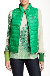 Desigual Quilted Vest Green