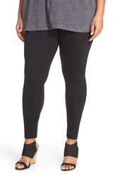 Sejour Plus Size Women's Ponte Leggings Black