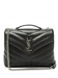 Saint Laurent Loulou Small Quilted Shoulder Bag Black